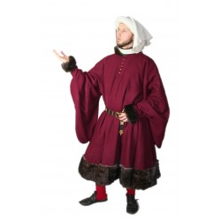 Robe with Fur Trim